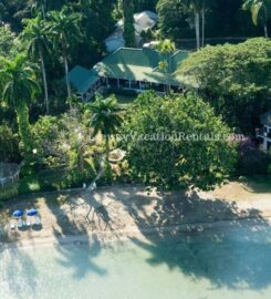 Villa Tranquility – Beach Front, 7 bedrooms with beach cottage
